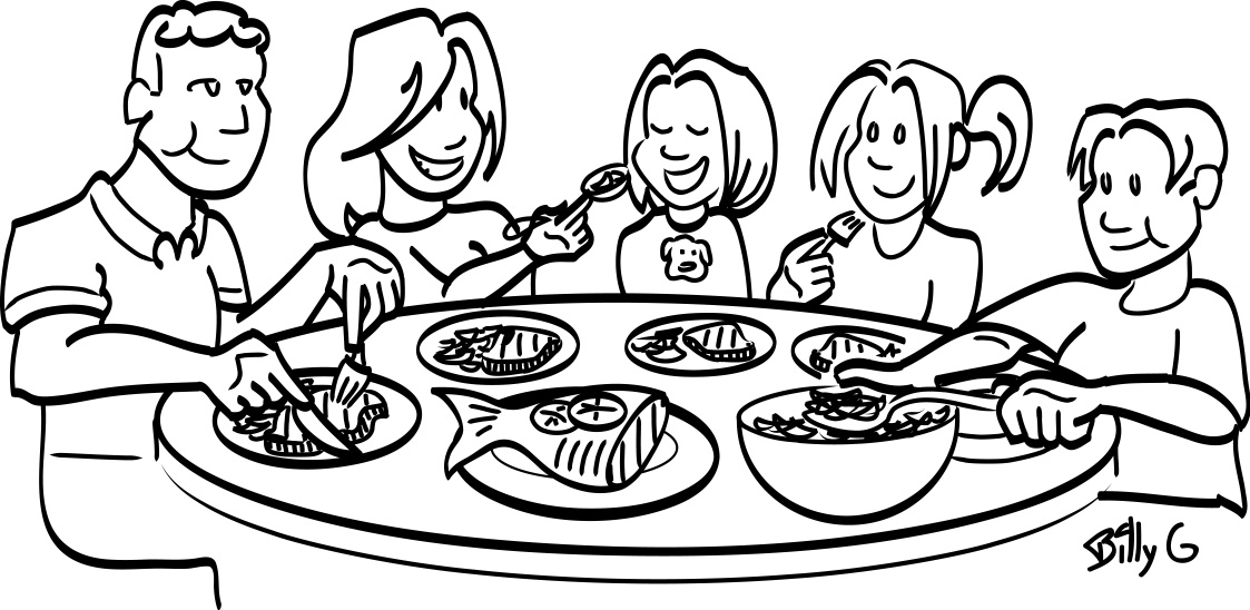 breakfast time coloring pages - photo#46
